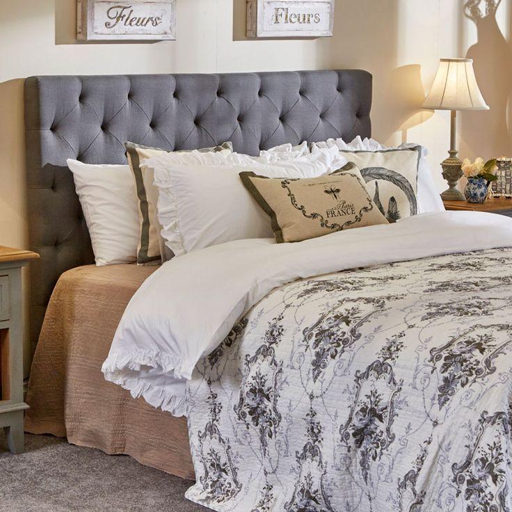 Amelia King Bedhead Grey Linen