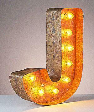 12'' J Vintage Marquee Light by Vintage Marquee Lights #zulily #zulilyfinds