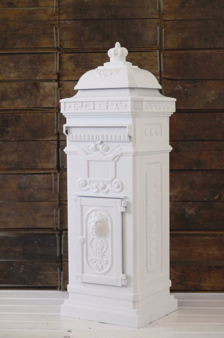 Lily and Bramwell | Event hire Adelaide, South Australia   Vintage white post box  Looking for a unique wishing well? Our vintage white post box/letter box comes with a key lock to keep the contents secure.