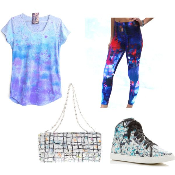 Painted outfit by nshkoukani on Polyvore featuring polyvore, moda, style, Splendid and Chanel
