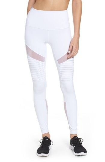 Free shipping and returns on Zella Autumn High Waist Moto Ankle Leggings at Nord...