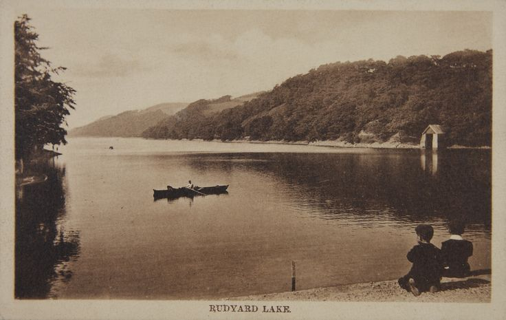 Old postcard of Rudyard Lake, Staffordshire