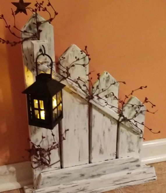 Primitive Decor Rustic Home Decorlantern candle holder