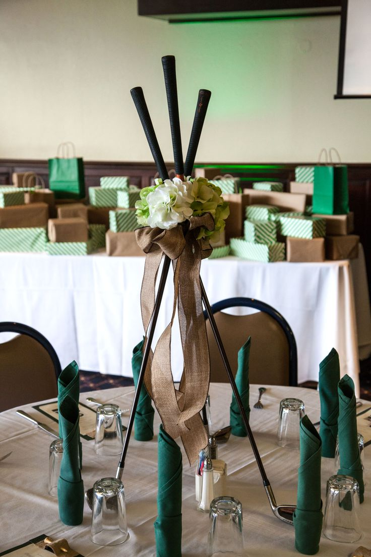 A Great Way To Create A Golf Centerpiece Party Decor