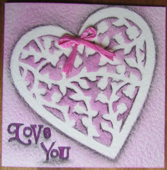 Handmade Love You 6x6 Quality Card  Perfect for by CraftyMrsPanky