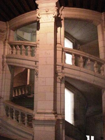 La scala a doppia elica di Leonardo - Chambord  Chateau de Chambord Loire Valley, Francia.