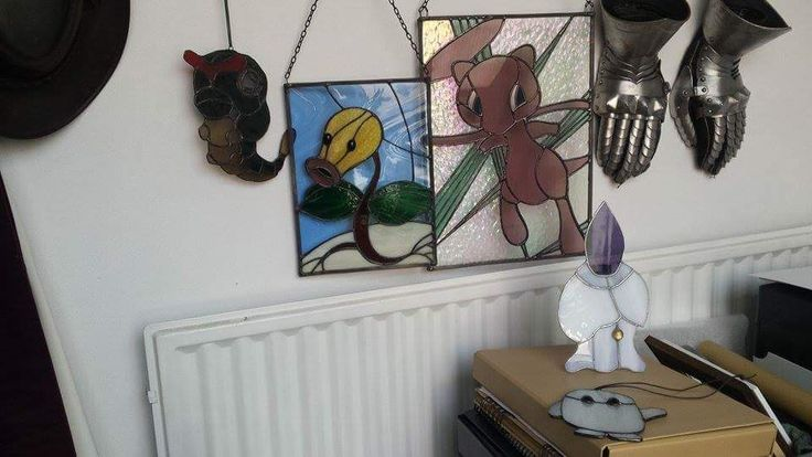 Stained glass, Pokémon projects. By RannDago.