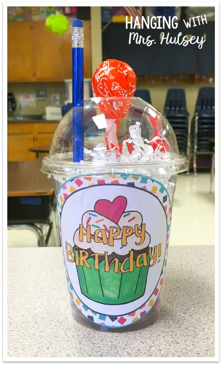 Fun way to celebrate birthdays in the classroom! Try these birthday cups!