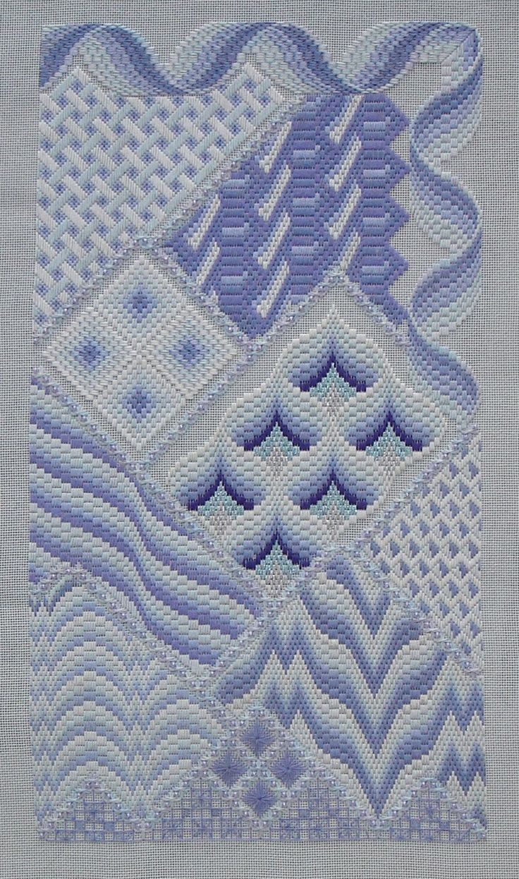 Bargello Fantasy Needlepoint, Periwinkle variations