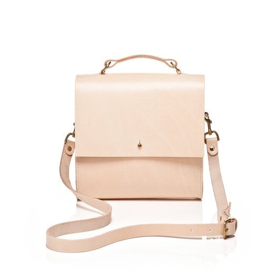 Lucy Boxy Natural Leather Cross-body Bag by GRACEGORDONLDN