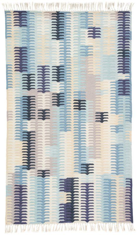 Afton Flat Woven Blue Indoor Outdoor Area Rug Small Space Outdoor