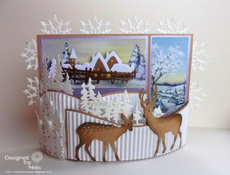 Paper Craft Christmas Card Ideas Part - 44: Winter Wonderland By *Nela* - Cards And Paper Crafts At Splitcoaststampers