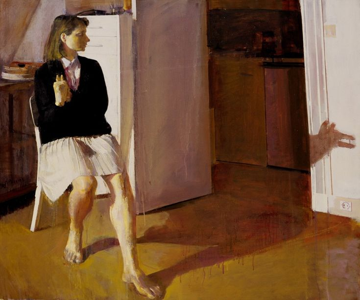 Giorgos Rorris - Ρόρρης Γιώργος (1963). Study for the portrait of Rania Trivela, 1990, oil on canvas, 110x 130 cm.