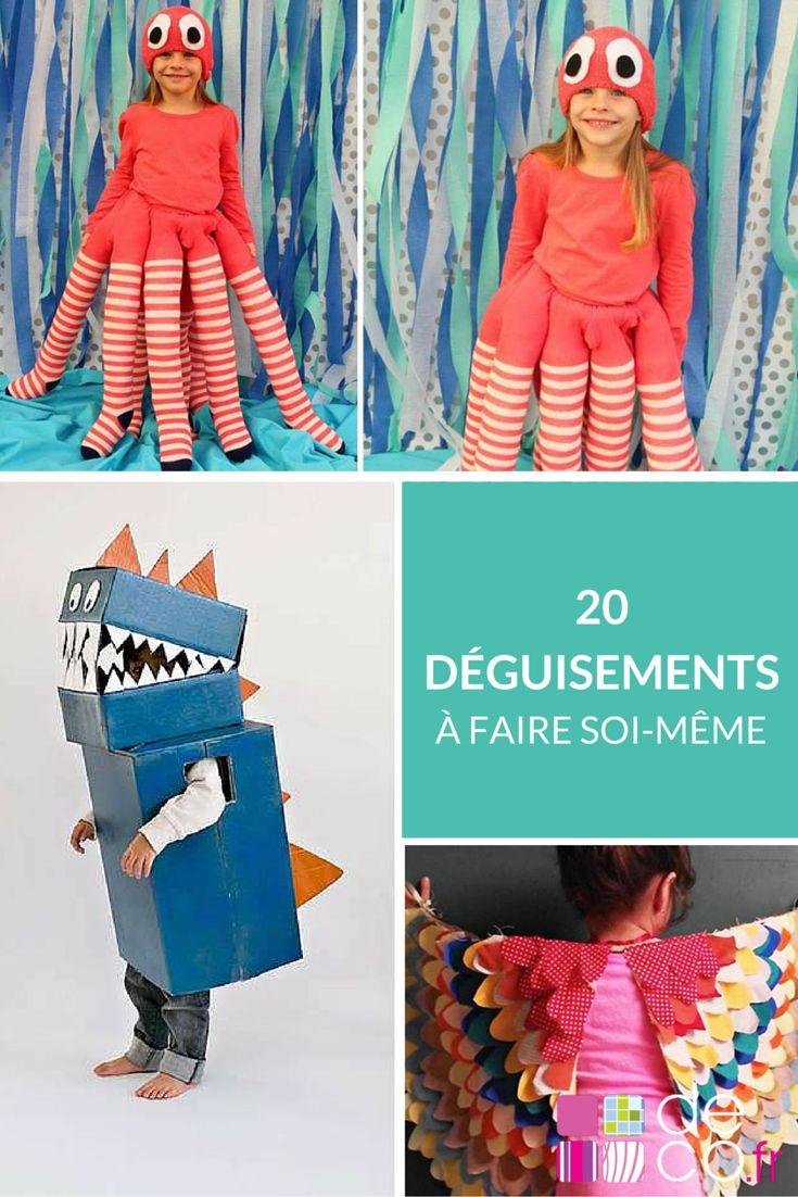 20 tutos DIY pour fabriquer des déguisements uniques ! http://www.deco.fr/photos/diaporama-deguisement-halloween-fait-main-diy-d_3394
