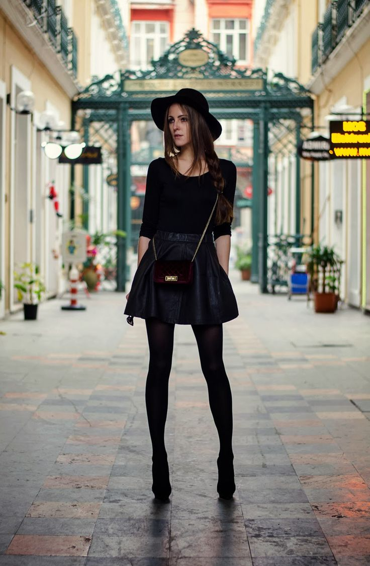 black leggings with rocker outfit