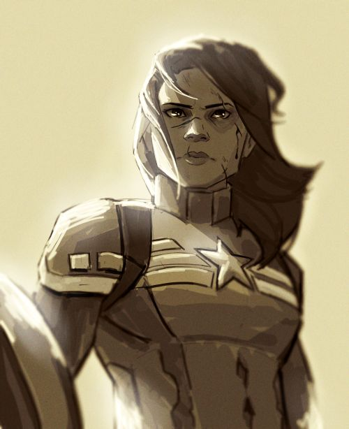 ladies all scratched up after a fight and looking dangerous is my ultimate weakness   Cap Peggy Carter by Romans-art