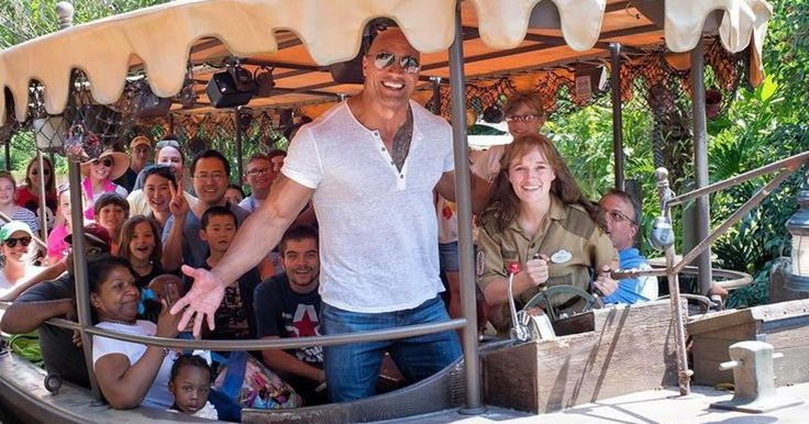 Dwayne 'The Rock' Johnson Is Researching His Newest Role By Surprising Fans At Disney World