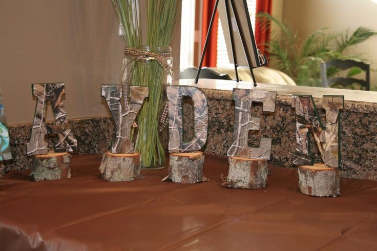hunting party ideas | Camouflage name for deer hunting party | birthday party ideas