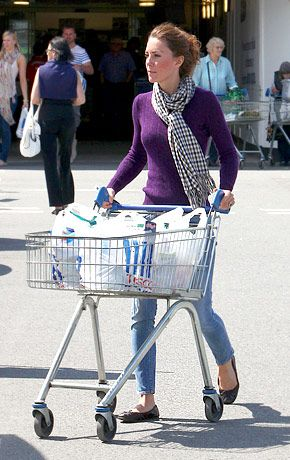 Even the Duchess goes food shopping! love it!