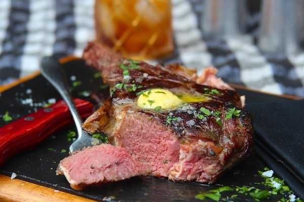 Sous Vide and Grilled Bison Ribeye