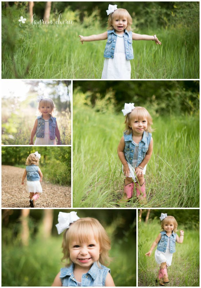 Lauren Cherie Photography | 2 year old pictures | 2 year girl pictures |   Minus the cowgirl boots!