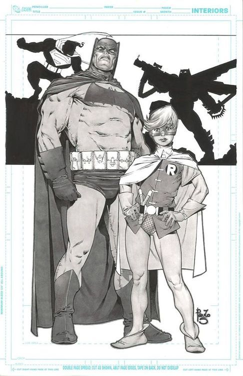 Frank Miller Style Dark Knight & Robin by Paulo Siqueira