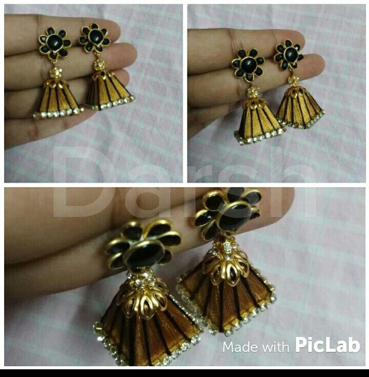 Darsh silk thread handmade earing https://m.facebook.com/darshcreations/