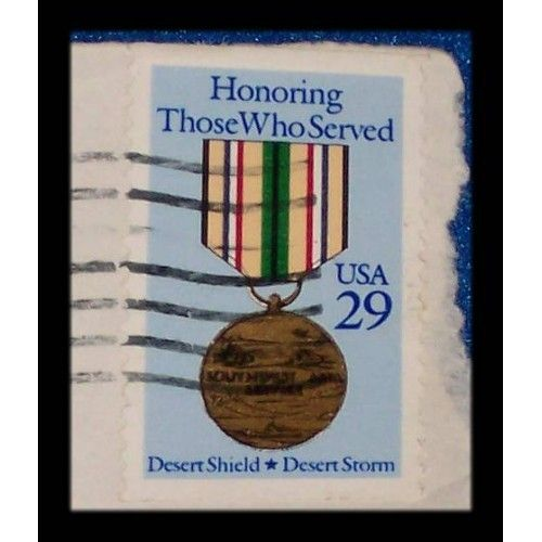 DESERT STORM DESERT SHIELD WAR $.29 U.S. POSTAGE STAMP IRAQ'S INVASION OF KUWAIT - $0.01