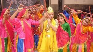 Student will play a role of Krishanji , Radha , and Gopiya.