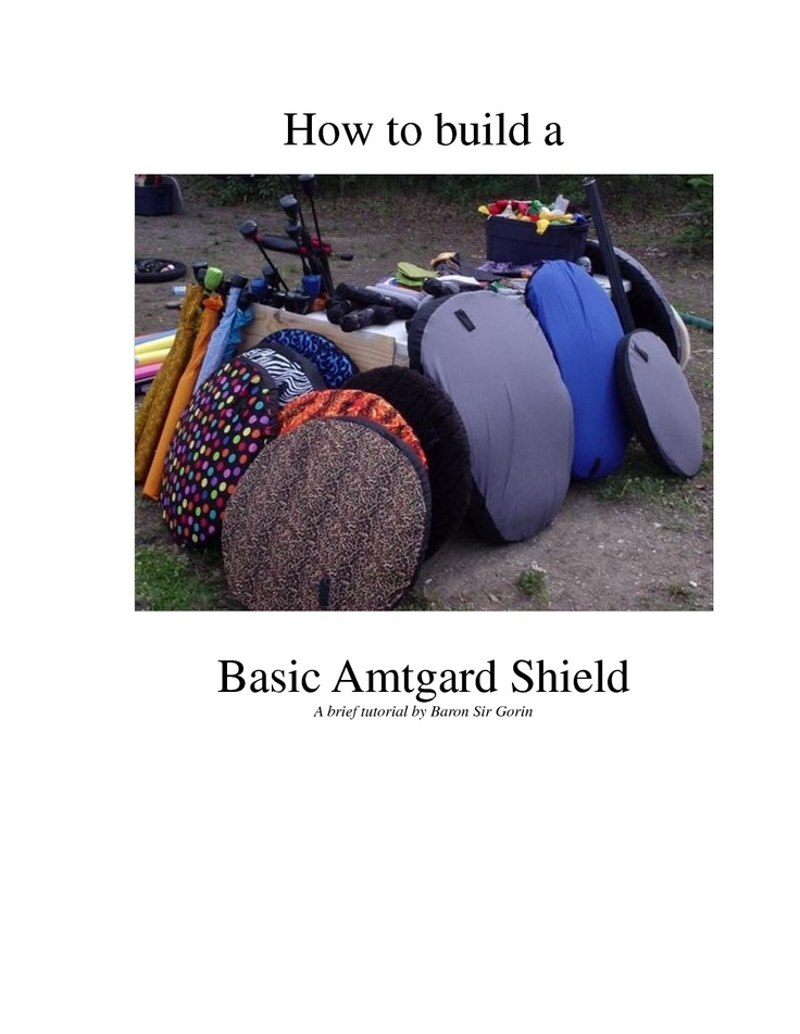 How to build a Basic Amtgard Shield