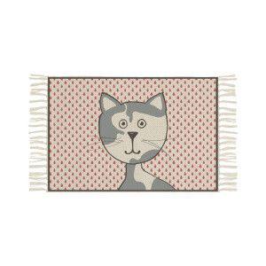 Tappeto fantasia Mermichel   cotone - beige e rosa   40 x 60 cm