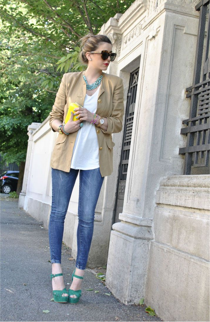 Love this look: Shoes, Inspiration, Blazer, Chic, Style, Clothes, Casual, Nicoletta Reggio