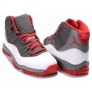 Nike Air Jordan 11 XI Retro Charcoal Grey Varsity Red White Contrast