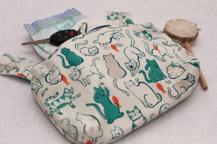 Ergo 360 sleek zipper pouch / purse / pocket / bag - Cats in teal by mamietam on Etsy https://www.etsy.com/ca/listing/454456282/ergo-360-sleek-zipper-pouch-purse-pocket