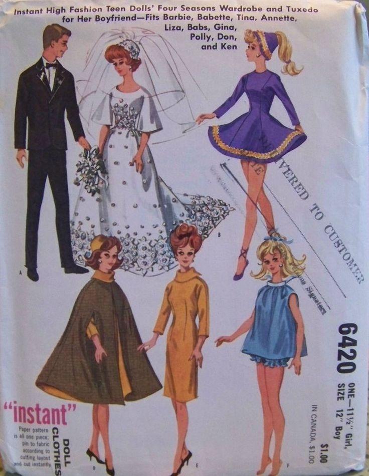 518 besten Barbie Sewing Patterns Bilder auf Pinterest ...