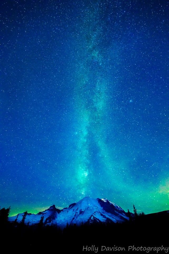 Mount Rainier- Night Sky. Still can't believe I live less than an hour away from her!