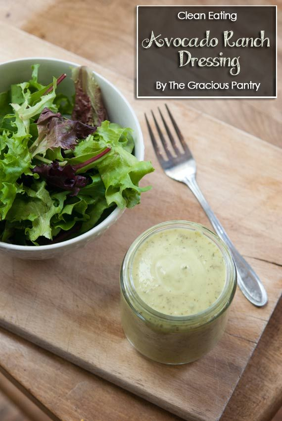 Clean Eating Avocado Lime Ranch Dressing Recipe ~ https://www.thegraciouspantry.com