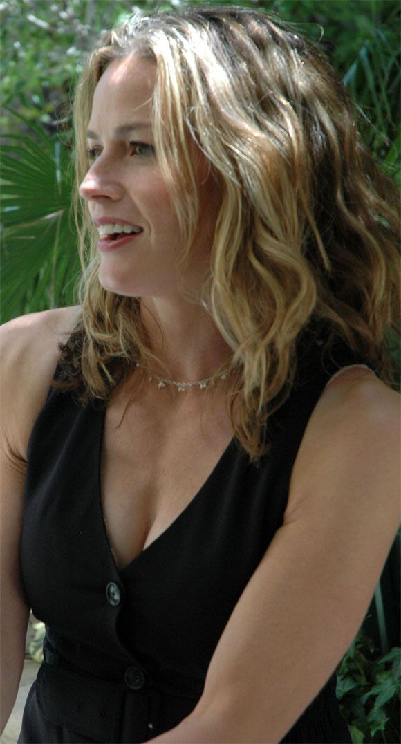 Elizabeth Shue-tamed curls medium length cut