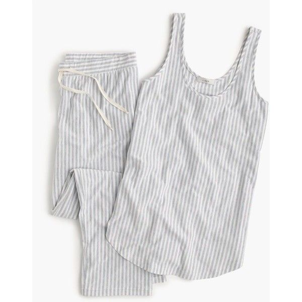 J.Crew Drapey Pajama Set ($89) ❤ liked on Polyvore featuring intimates, sleepwear, pajamas, j crew pajama set, j crew pyjamas, j crew pajamas, j crew pjs and j crew sleepwear