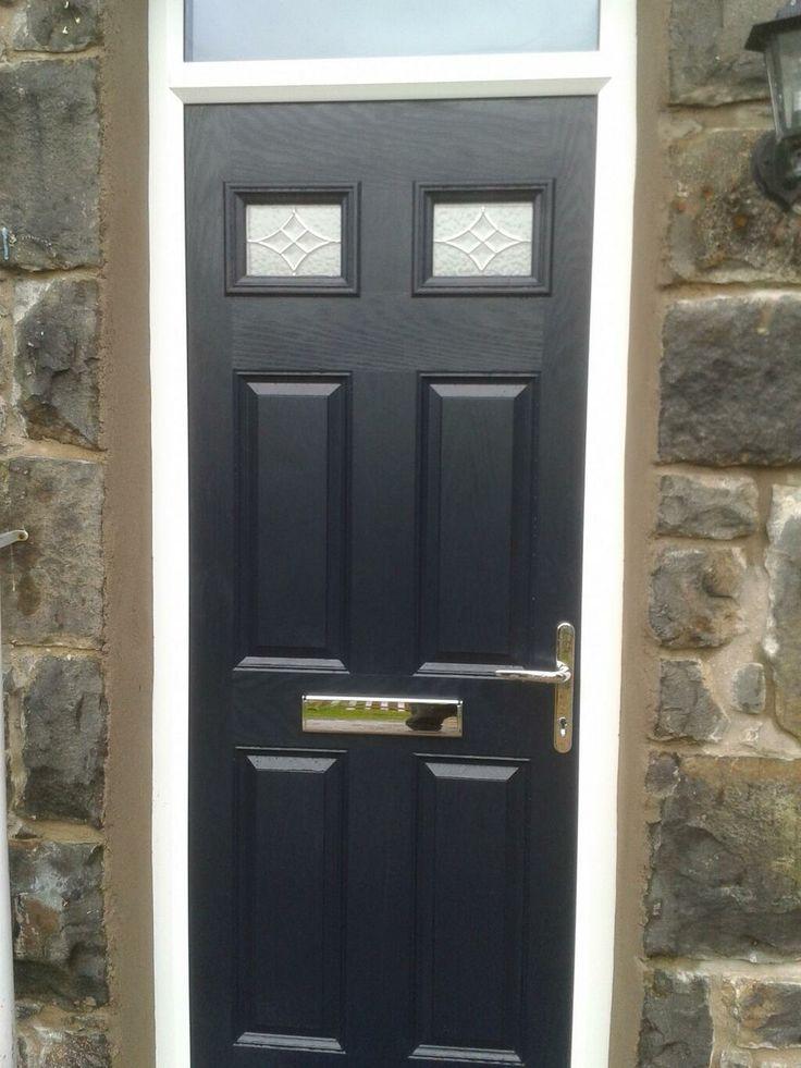 Superb Black Door Stop Doors 4 Panel 2 Square Composite door in black built into a period property  #doorstopdoors #door-stop #blackcompositedoors #compositedoorprices  Pinned From https://twitter.com/CompositeDoorPr