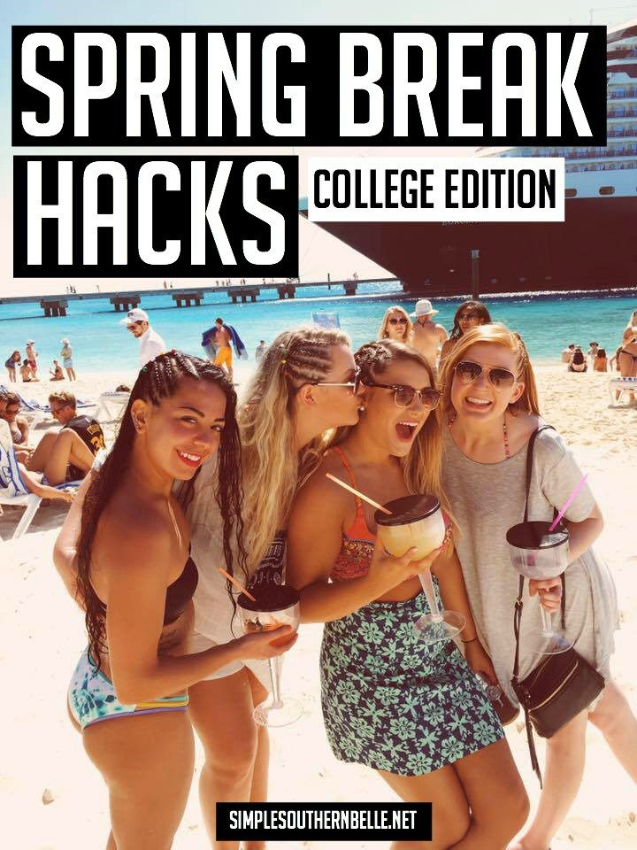 Spring break is finally here! Use these 8 spring break hacks to have the best time ever!  simplesouthernbelle.net