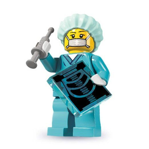 Lego Surgeon Minifigure, Series 6 (2012)