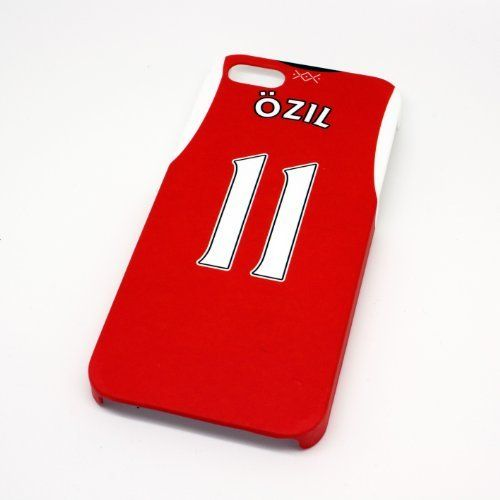 Arsenal FC Ozil Soccer/Football Shirt Style Mobile Phone Cover Case for iPhone 5/5s- Non Fade, Hard Wearing Rubberised Finish packaged in Presentation Box. Ultra-slim fit Charge your Mobile Phone while in the case. rubberised non fade protective finish. Made from a tough and durable polymer. Direct access to all device features. Tough presentation case ensuring case comes in perfect condition.
