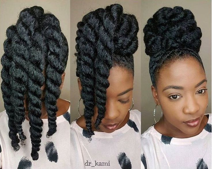 nice these chunky twists make protective styling easy peasy....