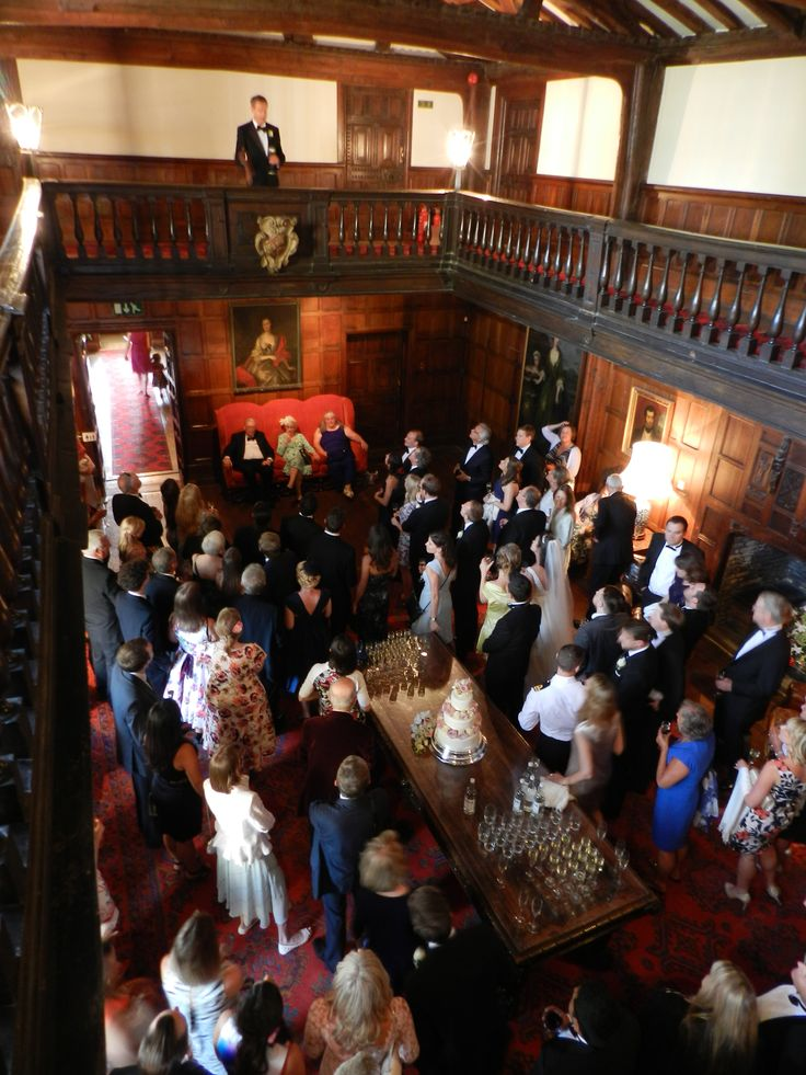Speeches from the Minstrels Gallery in the Great Hall at Hampden House  Country house Buckinghamshire