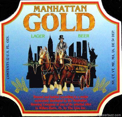 Lion Brewery Label Fun: Manhattan Gold Lager