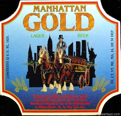 Lion Brewery Label Fun: Manhattan Gold Lager