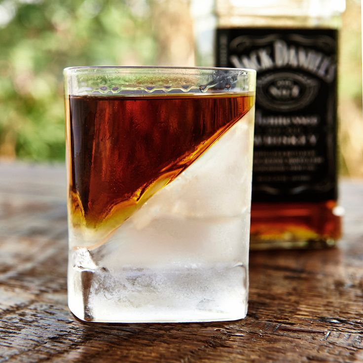 Keep your favorite spirits chilled without watering them down. Add water, insert the mold, freeze. The ice forms into a wedge and melts slowly due to the reduced surface area.