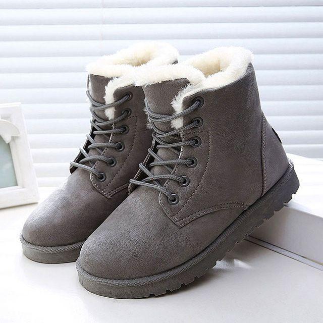 2016 Mulheres Botas de Inverno Quente Botas de Neve Botas Femininas Botas de Plataforma de Moda Botas de Tornozelo Para As Mulheres Sapatos Pretos em Botas de neve de Sapatos no AliExpress.com | Alibaba Group