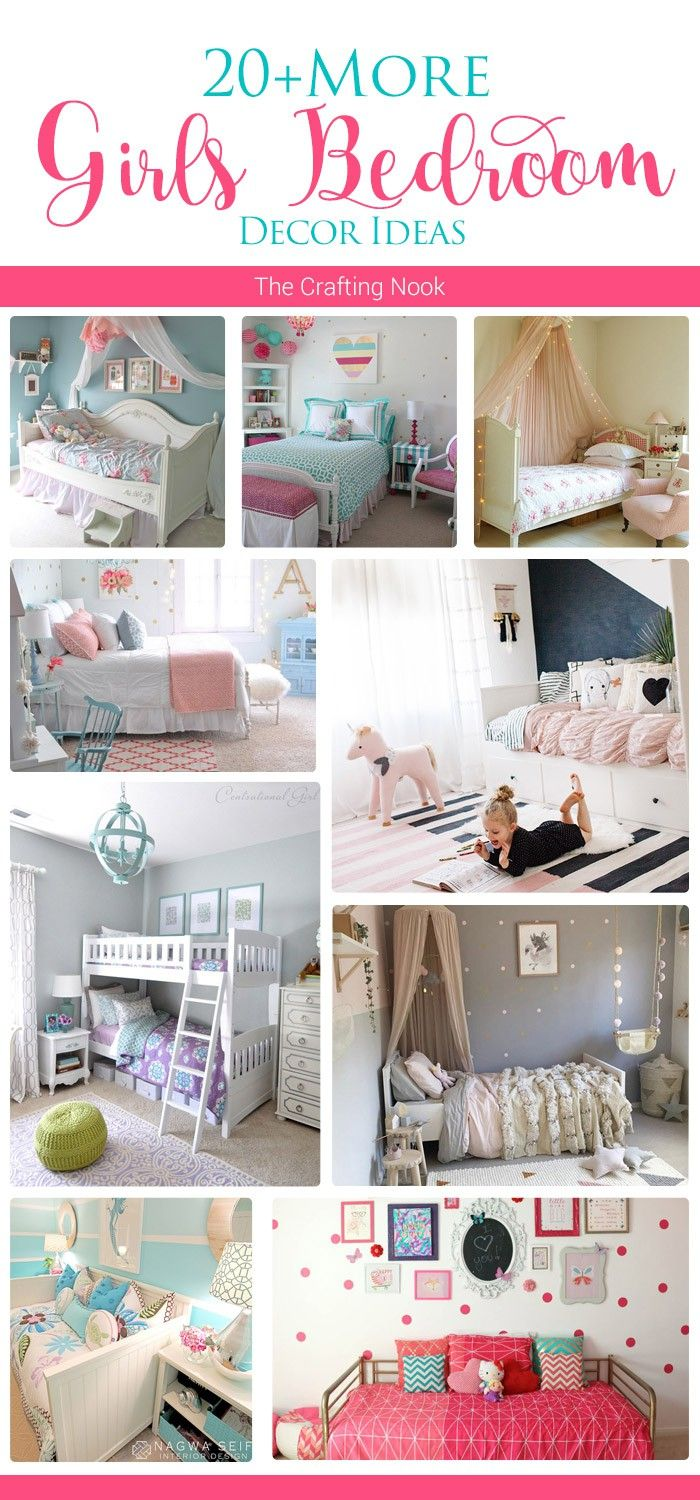 I'm crazy about being able to decorate my Gil's bedroom and these 20+ More Girls Bedroom Decor Ideas are fueling my inspiration and addiction! Popular Pins!